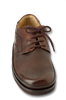 Dakota Brown Smooth Leather Mens Tie Shoes