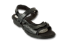 Carmel Black Glass Croc Womens Sandal