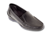 Madras Black Leather Womens Shoe