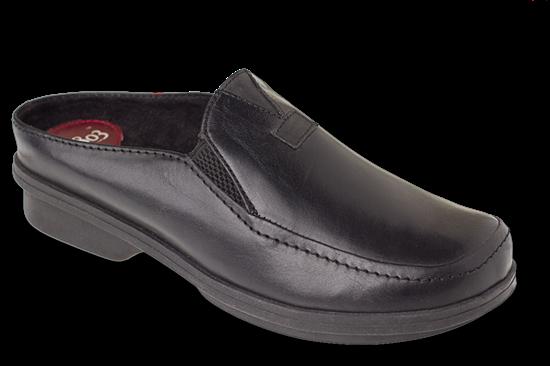 Clovis Black Leather Womens Shoe