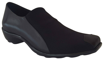 Nomisa Black Stretch Fabric Shoe