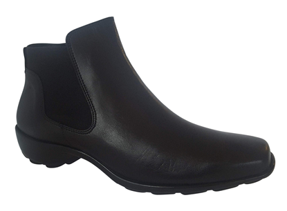 Naya Black Leather booties